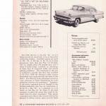 "Consumers' Report Research Bulletin January, 1956 ""Mercury Monterey"""