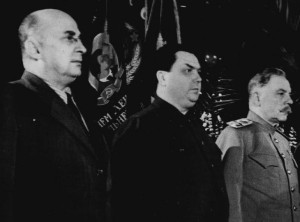 Beria, Malenkov and Voroshilov in happier times ...