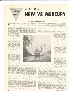 New V-8 Mercury Pg 1