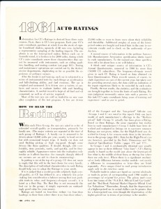 Consumer Reports April 1961 Auto Buying Guide Pg 1