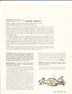 Consumer Reports April 1961 Auto Buying Guide Pg 2