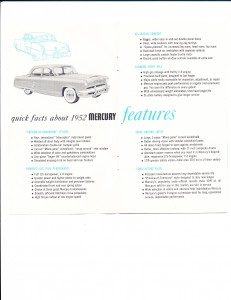 Quick Facts About the New 1952 Mercury Pg 2