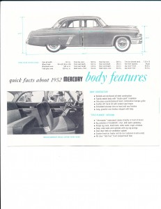 Quick Facts About the New 1952 Mercury Pg 4