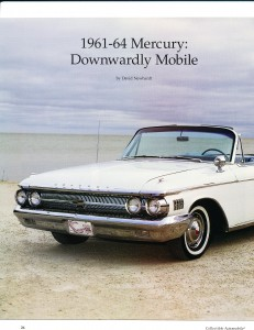 "Collectible Automobile February 2000 ""1961 - 64 Mercury: Downwardly Mobile"" Pg 1"