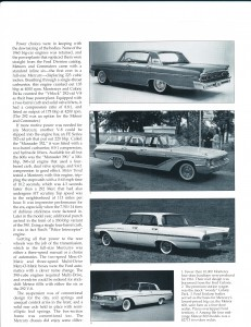 "Collectible Automobile February 2000 ""1961 - 64 Mercury: Downwardly Mobile"" Pg 4"