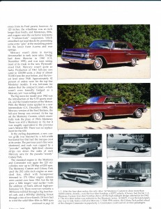 "Collectible Automobile February 2000 ""1961 - 64 Mercury: Downwardly Mobile"" Pg 6"