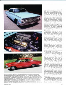 "Collectible Automobile February 2000 ""1961 - 64 Mercury: Downwardly Mobile"" Pg 8"