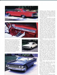 "Collectible Automobile February 2000 ""1961 - 64 Mercury: Downwardly Mobile"" Pg 9"