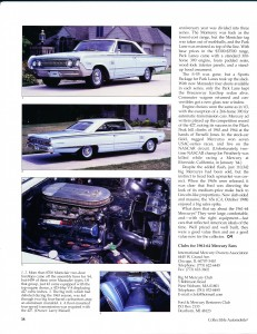 "Collectible Automobile February 2000 ""1961 - 64 Mercury: Downwardly Mobile"" Pg 11"