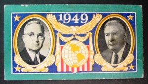 1949 Inauguration Ticket