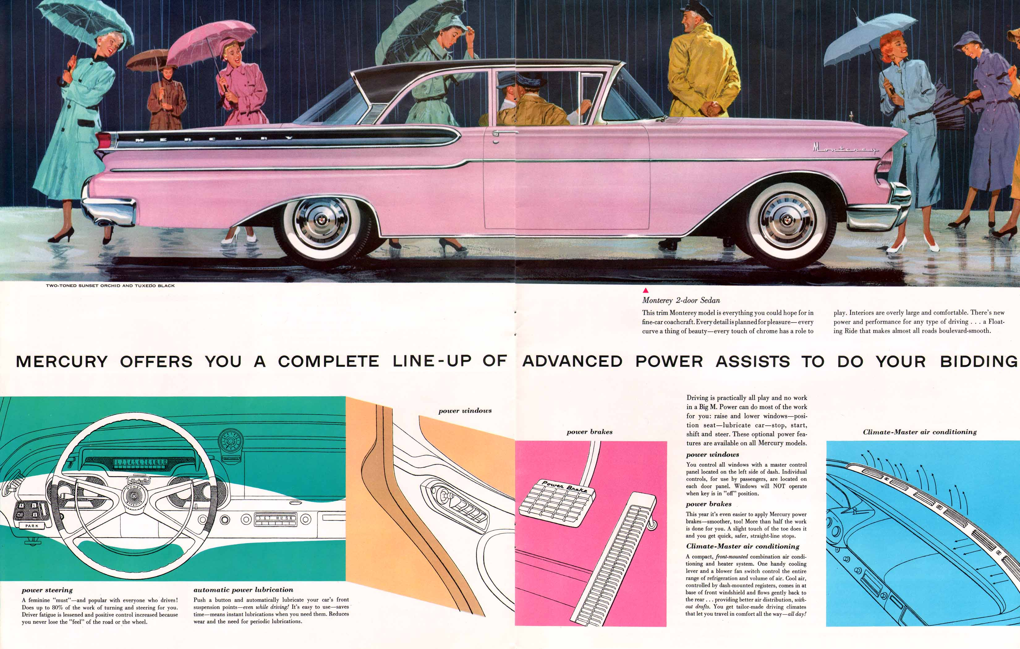 1957 Mercury With Dream Car Design Large Prestige Brochure Chevrolet Sales 18 19