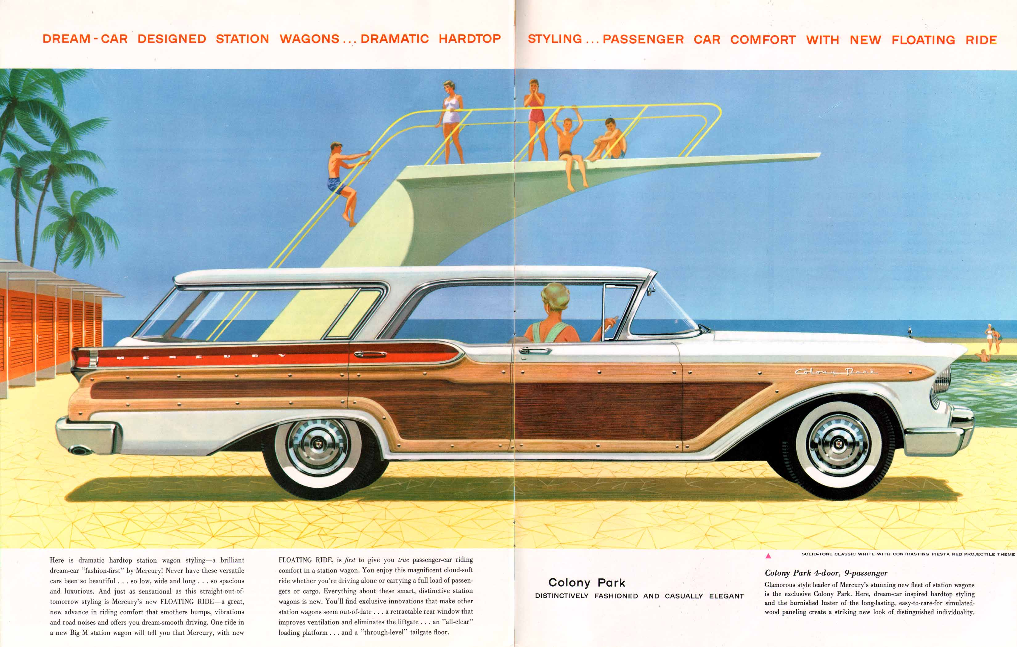 1957 Mercury With Dream Car Design Large Prestige Brochure Chevrolet Sales 20 21