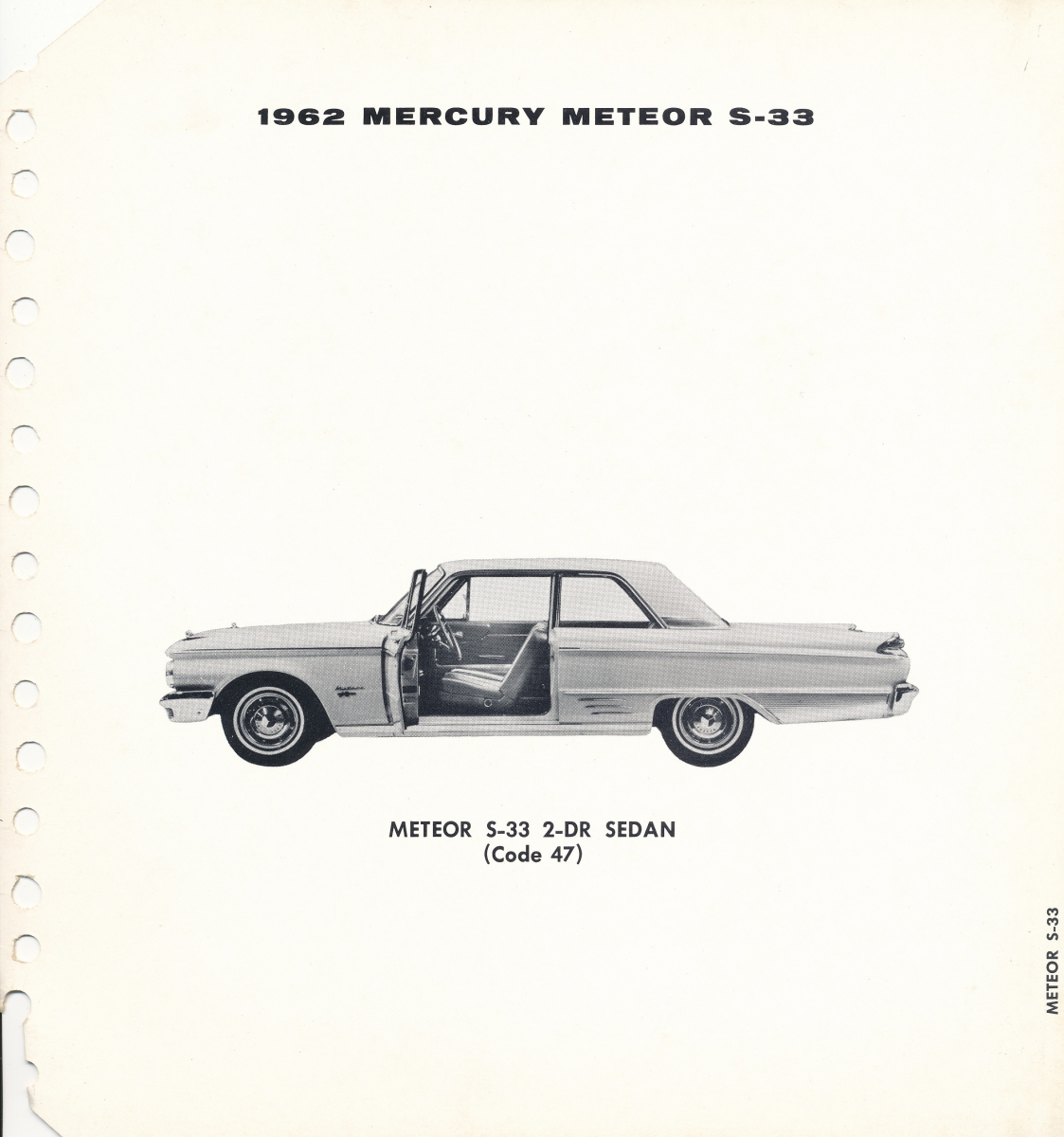 1962 mercury color  u0026 upholstery charts