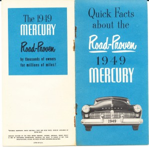 1949 Mercury Quick Facts Pg 1