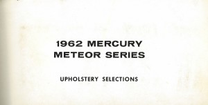 1962 Mercury Meteor Upholstery Selections 01
