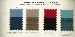 1962 Mercury Meteor Upholstery Selections 05