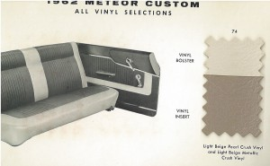 1962 Mercury Meteor Upholstery Selections 06
