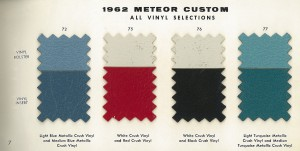 1962 Mercury Meteor Upholstery Selections 07
