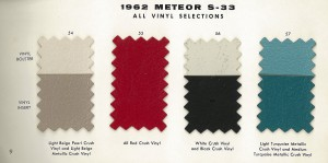 1962 Mercury Meteor Upholstery Selections 09