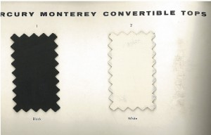 1962 Mercury Monterey Convertible Top Selections 20