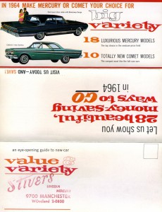 1964 Mercury Foldout-Side 1