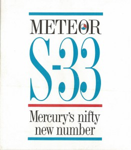 Meteor S-33 Mercury's Nifty New Number 01